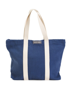 Solid Dhurrie Tote