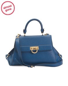 Made In Italy Leather Sofia Mirto Satchel