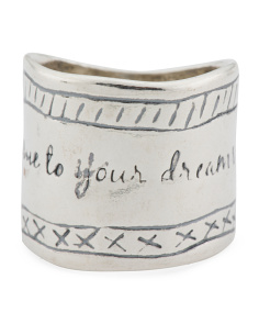 Made In Israel Sterling Silver Be True To Your Dreams Ring