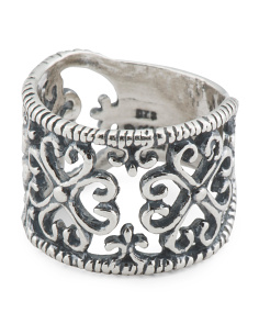 Made In Israel Sterling Silver Filigree Band Ring