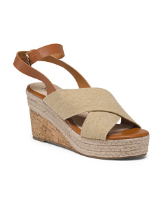 Criss Cross Espadrille Wedges