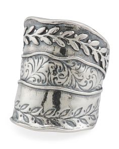 Made In Israel Sterling Silver Wheat Ring