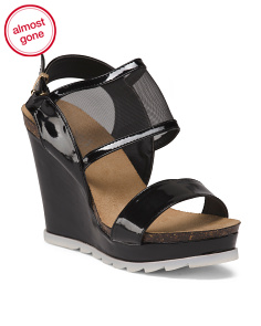 Double Strap Covered Wedges