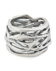 Made In Israel Sterling Silver Wrapped Ring