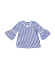 Big Girls Bell Sleeve Embellished Top