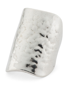 Made In Israel Sterling Silver Cigar Band Ring