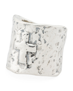Made In Israel Sterling Silver Cross Band Ring