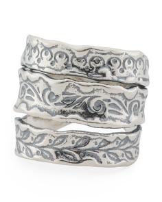 Made In Israel Sterling Silver Triple Ring