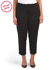 Plus Crepe Ankle Pants