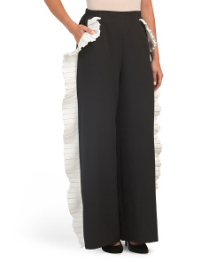 Wide Leg Pleated Side Pants