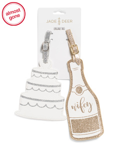 Set Of 2 Wifey Champagne Luggage Tags