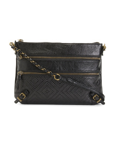 Messina Leather Crossbody With Chain Handle