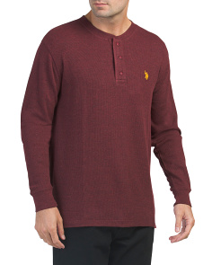Heather Thermal Henley