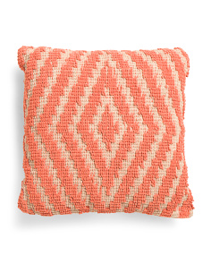 Made In India 18x18 Textured Geo Pillow