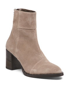 Made In Italy High Heel Stud Suede Booties
