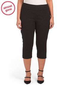 Plus Slim Leg Cropped Pants