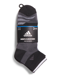 3pk Quarter Socks