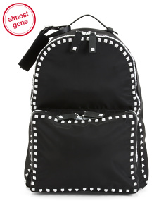 Made In Italy Leather Rockstud Backpack