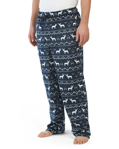 Fairisle Silky Fleece Pants