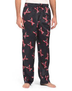 Ski Print Silky Fleece Pants