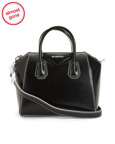 Made In Italy Antigona Leather Satchel