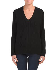 Wool & Cashmere Ribbed Sweater