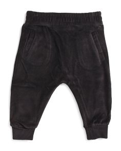 Infant Velour Drop Crotch Sweatpants