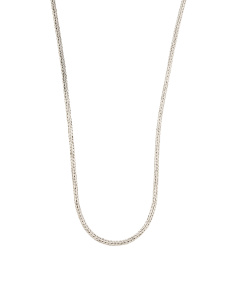 Men's Artisan Crafted In Bali Sterling Silver Chain Necklace