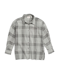Big Girls Joelle Plaid Shirt