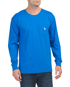 Long Sleeve Solid Pocket Tee
