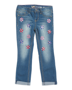 Little Girls Gemstone Convertible Jeans