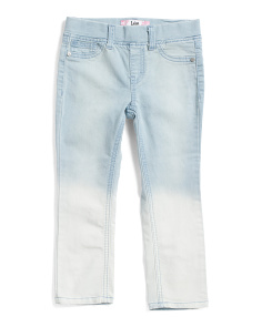 Little Girl Ombre Pull On Ankle Jeans