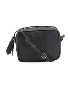 Julian Buckle Detail Leather Crossbody