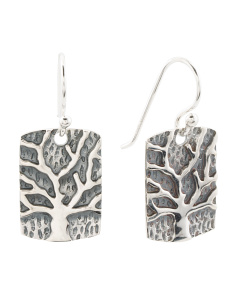 Made In Thailand Sterling Silver Tree Of Life Earrings