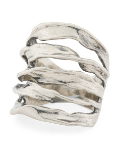 Made In Israel Sterling Silver Twisted Wire Ring