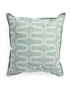 Made In Usa Linen Look Swirl Pillow