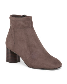 Suede Stretch Booties