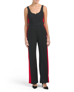 Sleeveless Jumpsuit With Racing Stripes