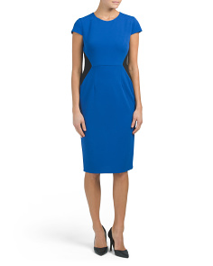 Short Sleeve Sheath Midi Dress