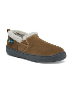 Men's Buck Run Suede Slippers