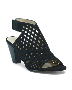 Peep Toe Perforated Heels