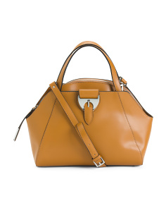 Made In Italy Leather Dome Satchel