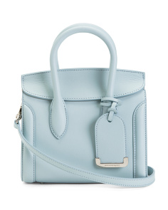 Made In Italy Heroine Mini Leather Satchel
