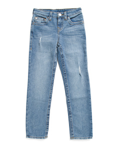Big Boy Slim Destructed Denim Pants