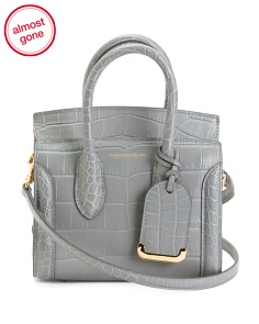 Made In Italy Leather Heroine Mini 21 Embossed Satchel