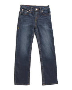 Big Boys Straight Stretch Denim Pants