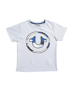 Little Boys Short Sleeve Circle Logo Tee