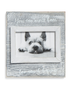 4x6 Never Too Happy Quote Photo Frame