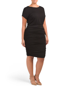 Plus Ruched Bodycon Dress