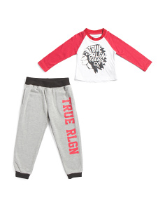 Infant Boys 2pc Long Sleeve Baseball Tee & Jogger Set